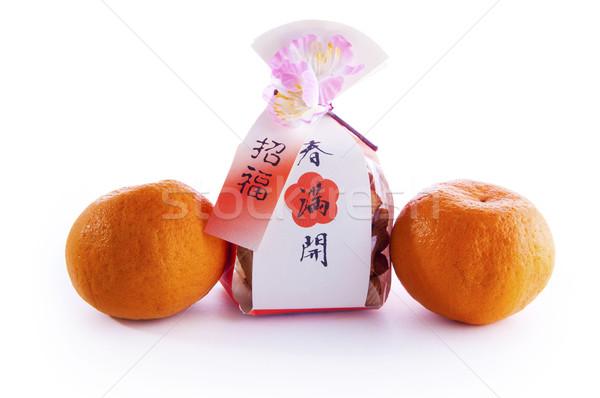 Boldog kínai új év kínai sütik ajándék szett Stock fotó © szefei