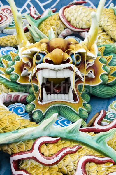 Dragón chino chino feng shui viaje culto arquitectura Foto stock © szefei