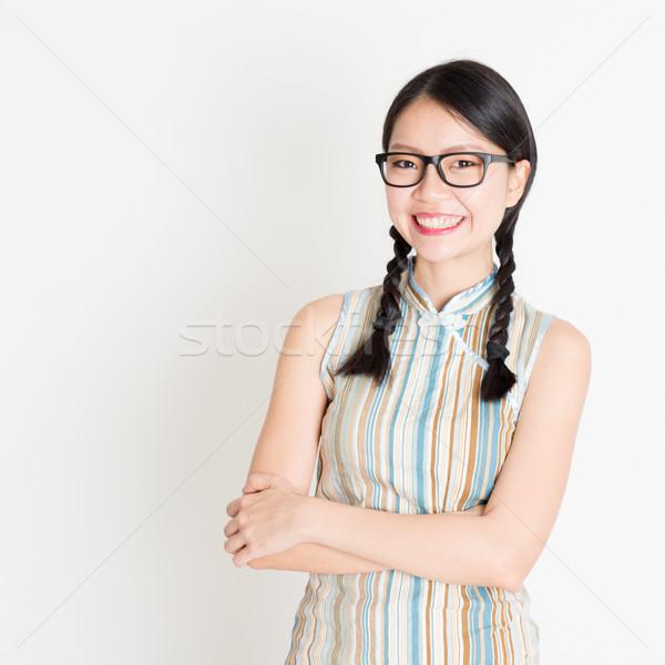 Oriental woman portrait Stock photo © szefei