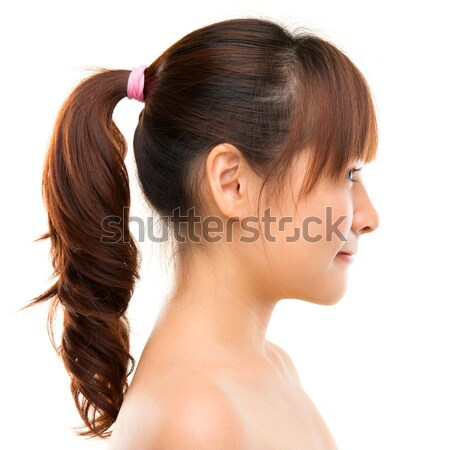 Asian woman profile. Stock photo © szefei