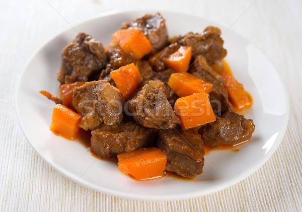 Arab montone piatto carota piatto pronto Foto d'archivio © szefei