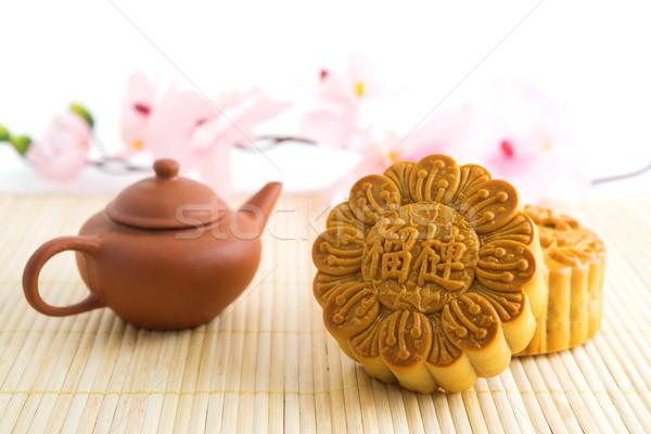 Tradizionale teiera cinese autunno festival Foto d'archivio © szefei