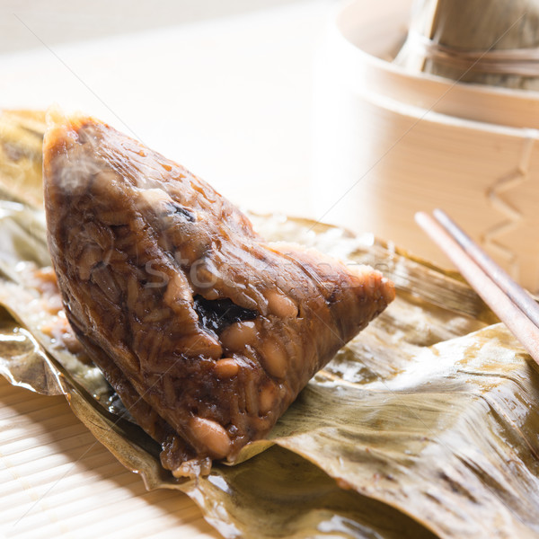 Unwrapped Sticky Glutinous Rice Dumplings Stock photo © szefei