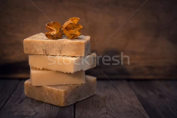 Handgemaakt veganistisch zeep laag licht exemplaar ruimte Stockfoto © szefei