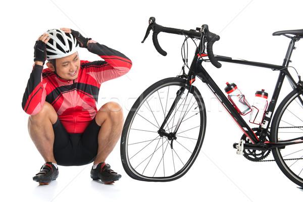 Flat tire bike Stock photo © szefei