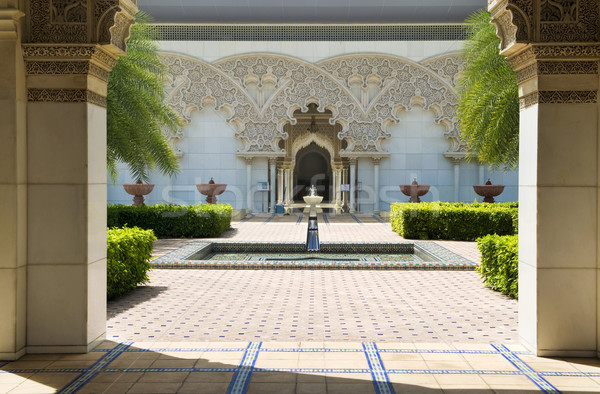 Moroccan Architecture Inner Garden. Stock photo © szefei