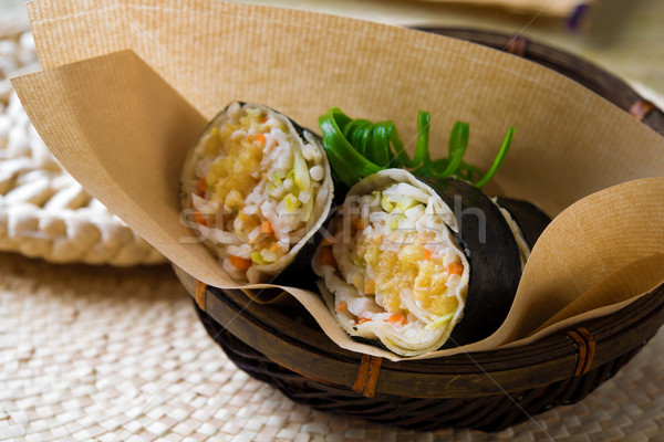 Malaysia fresh spring roll  Stock photo © szefei