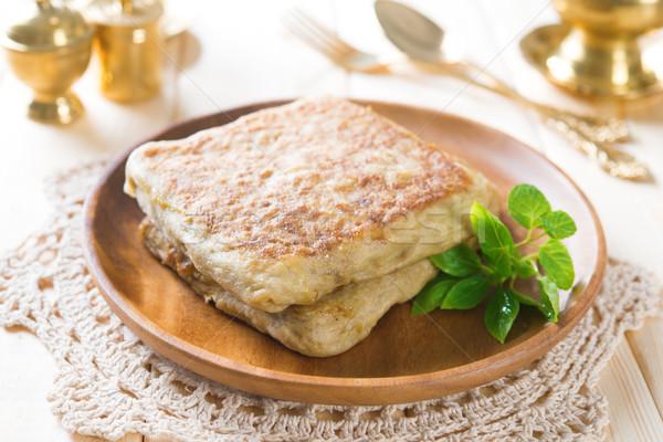 Arabski nadziewany chleba jadalnia Emiraty Muzułmanin Zdjęcia stock © szefei
