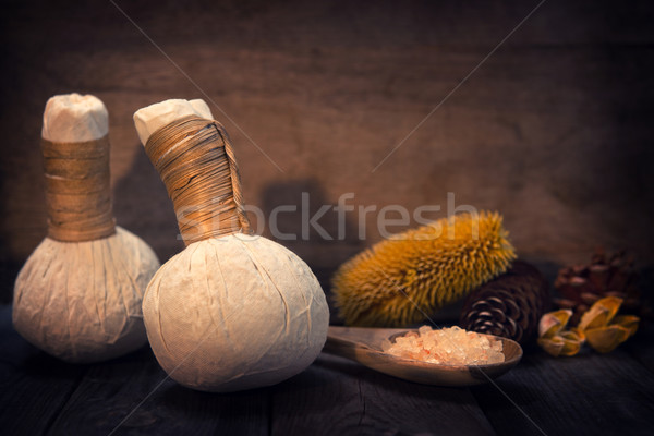 Herbal massage compress  Stock photo © szefei