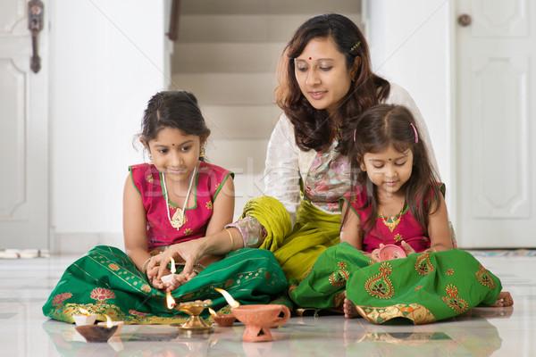 Celebrate Diwali festival Stock photo © szefei