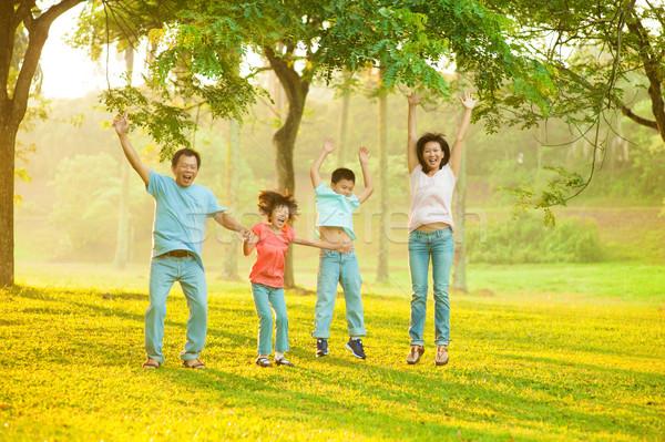 Joyful Asian family Stock photo © szefei