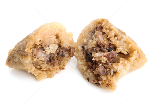 Gestoomd chinese rijst knoedel witte voedsel Stockfoto © szefei