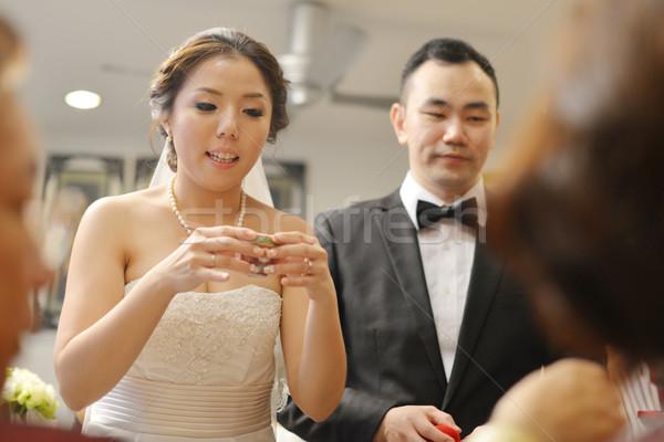 Asian Chinese wedding tea ceremony Stock photo © szefei