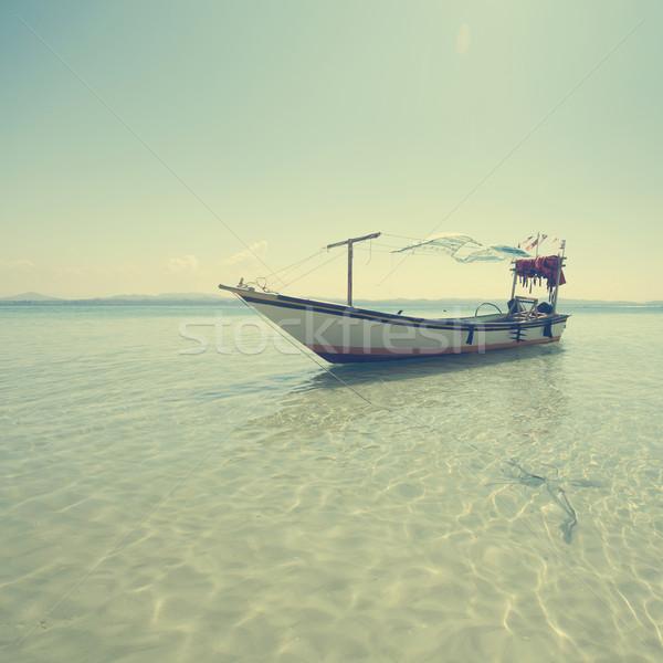 漁船 海 マレーシア 水 デザイン 夏 ストックフォト © szefei