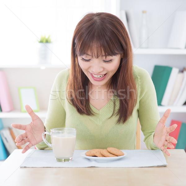 Surprised breakfast Stock photo © szefei