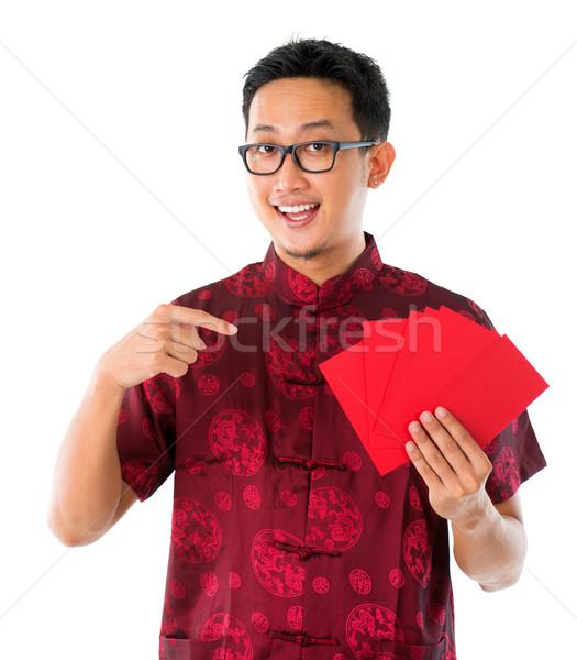 юго-восток азиатских китайский мужчины рук Сток-фото © szefei