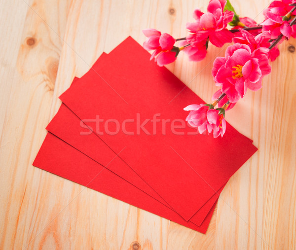Chinese new year and ang pow Stock photo © szefei