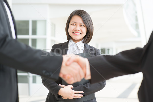Handshaking Stock photo © szefei