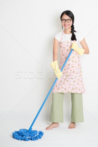 Mopping floor  Stock photo © szefei