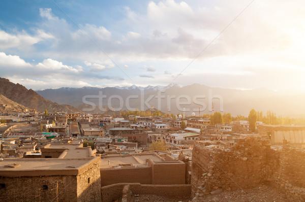 Stad Indië zonsondergang stad indian Stockfoto © szefei