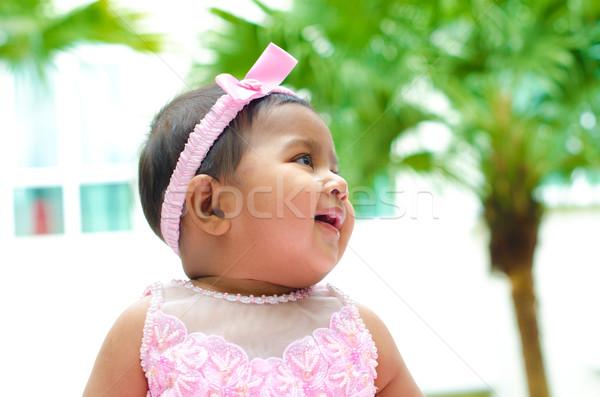 Outdoor Indian baby girl Stock photo © szefei