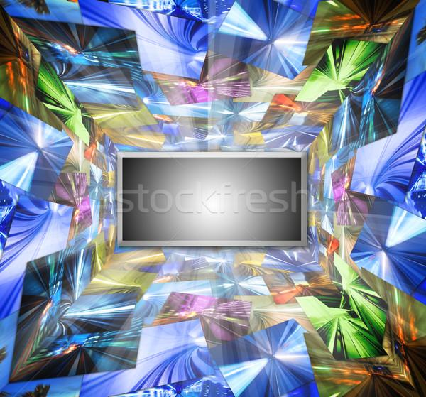 Hd televizyon yüksek çözünürlüklü fotoğraf duvar soyut Stok fotoğraf © szefei