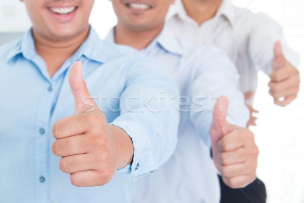Remek délkelet ázsiai üzletember üzleti csoport áll Stock fotó © szefei