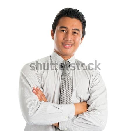 Asiático masculino sorridente retrato bonito moço Foto stock © szefei