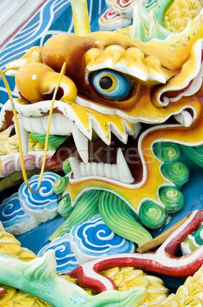 Chiński smok feng shui podróży kamień kultu architektury Zdjęcia stock © szefei