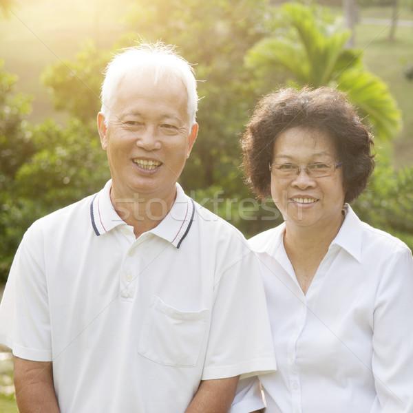 Asian seniors couple Stock photo © szefei