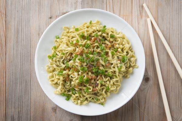 Top view dried noodles Stock photo © szefei