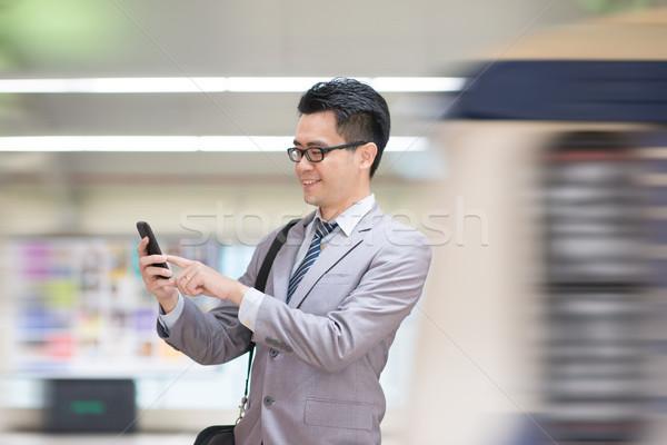 Empresario metro Asia hombre de negocios Foto stock © szefei