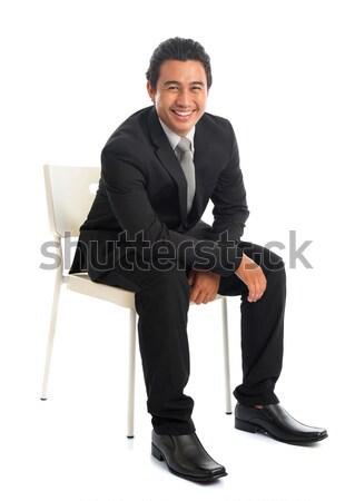 Sudeste asiático empresário atraente Foto stock © szefei
