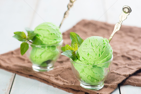 pistachio ice cream close up Stock photo © szefei