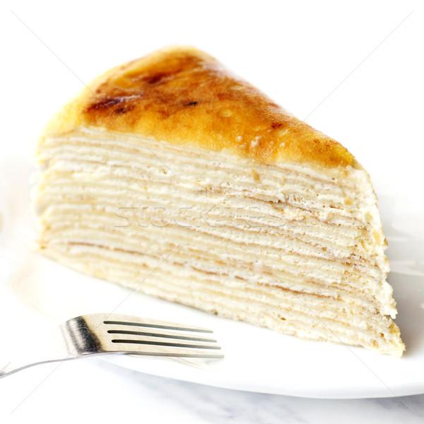 Crepe mil capas torta famoso francés Foto stock © szefei