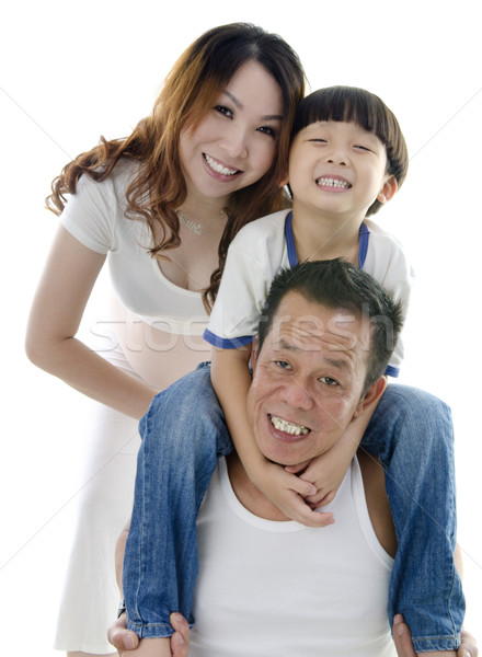 Stock photo: Happy Asian family