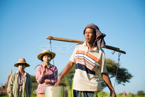 Group of Traditional Asian farmers  Stock photo © szefei