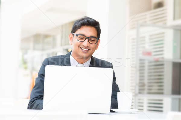 インド ビジネスマン 昼休み 小さな アジア ノートブック ストックフォト © szefei