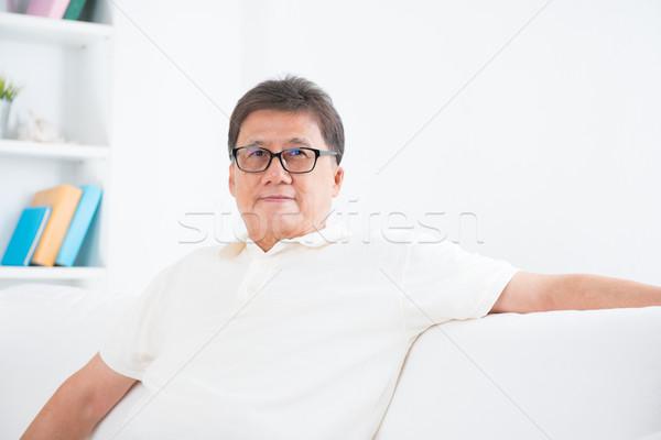 Mature Asian man portrait Stock photo © szefei