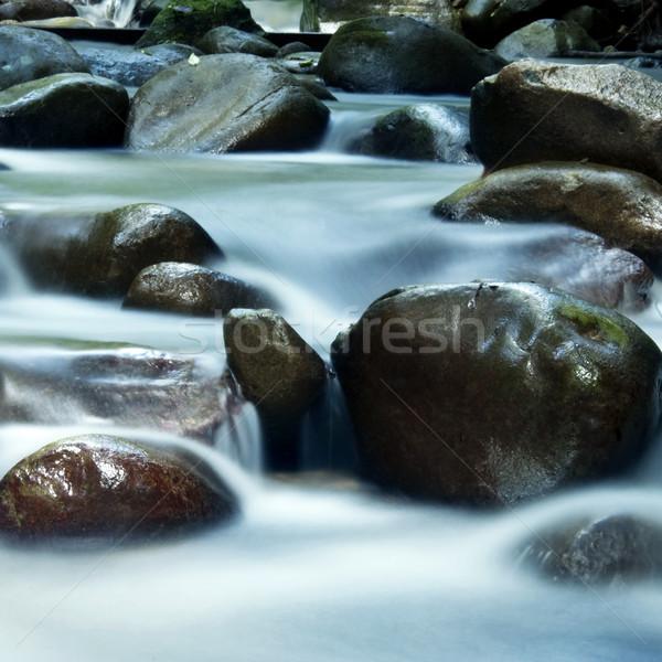 Jedwabisty wody zen 25 sekunda Zdjęcia stock © szefei