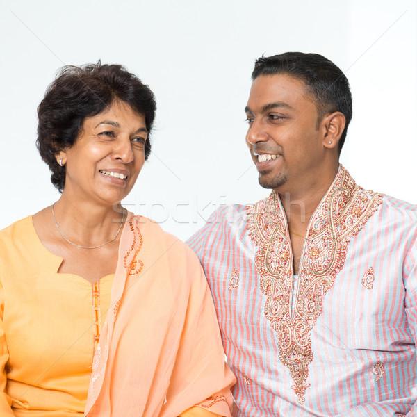 Indian family conversation Stock photo © szefei
