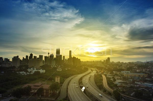 Kuala Lumpur Malezya görmek Bina ışık Stok fotoğraf © szefei