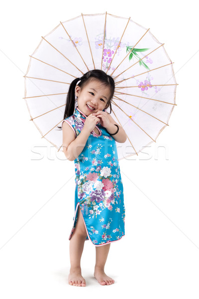 Little oriental girl Stock photo © szefei
