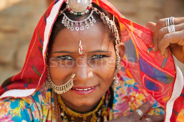 Beautiful Traditional Indian woman Stock photo © szefei
