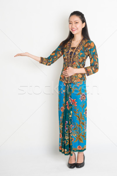 Asian girl hand holding something Stock photo © szefei