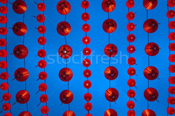 Chinese lanterns display Stock photo © szefei