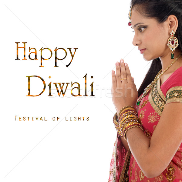 Stock photo: Celebrating Diwali festival