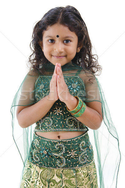 Indian fille accueil cute peu posent Photo stock © szefei