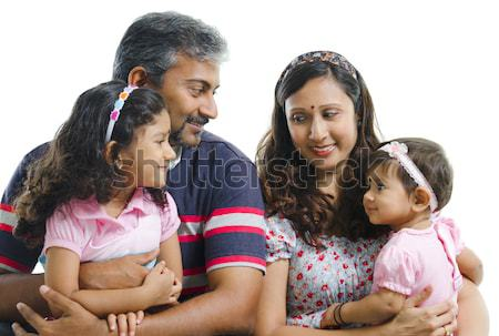 Outdoor Indian family Stock photo © szefei