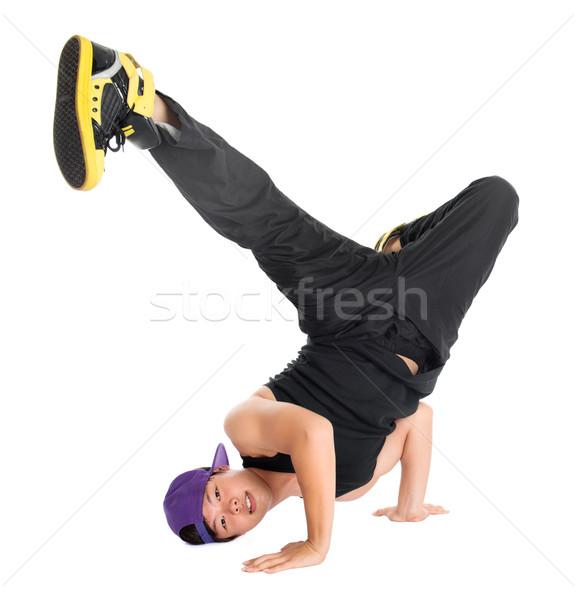 Hip hop ballerino cool guardando asian Foto d'archivio © szefei